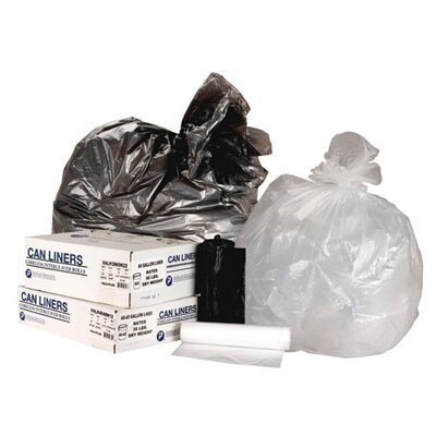 Inteplast Group 55 Gallon High Density Can Liner, 16 Micron Equivalent in Clear