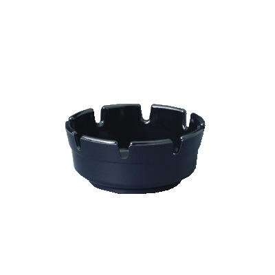Gessner™ Round Black Plastic Ashtray