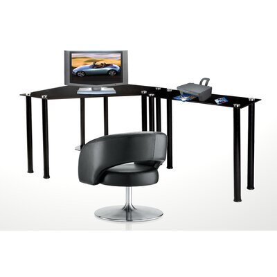 RTA Home And Office CT Computer/Laptop Desk Corner Computer Desk with Right Extension Table