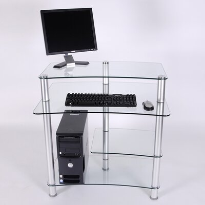 "RTA Home And Office 32"" W Computer Desk with Keyboard Tray"