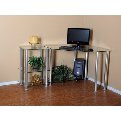 "RTA Home And Office Corner Computer Desk with 20"" Modular Extension"