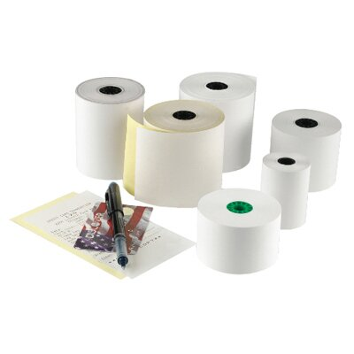 National Checking Company™ RegistRolls Two-Part Carbonless POS Roll in White