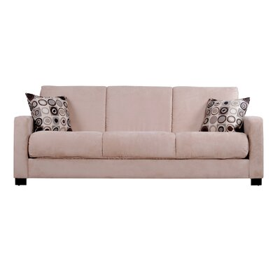 Convert a Couch Microfiber Sleeper Sofa in Khaki