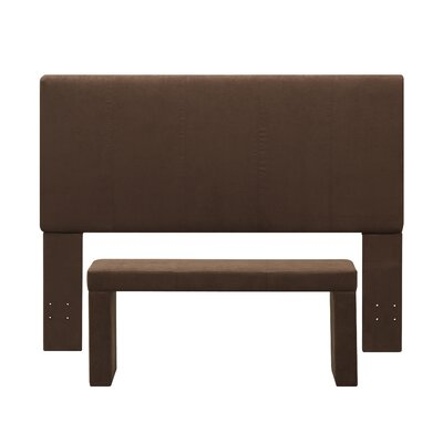 Nelson Full/Queen Upholstered Headboard and Bench Set