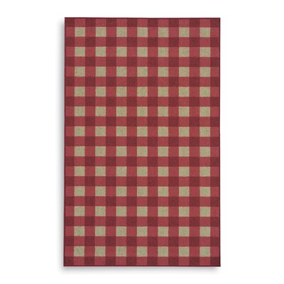 Karastan French Check Red Check Rug