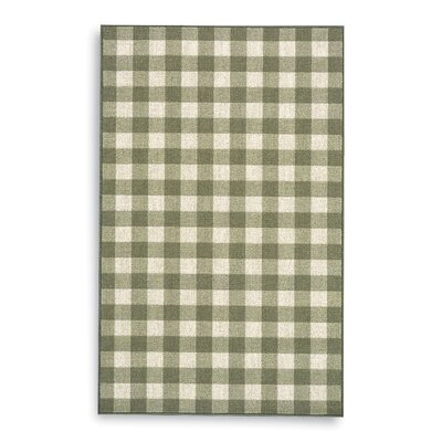Karastan French Check Green Check Rug