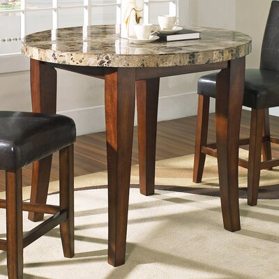 Steve Silver Furniture Montibello 3 Piece Pub Table Set in Multi-Step Rich Cherry