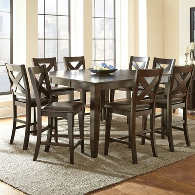 Crosspointe counter height extendable dining table wayfair for Counter height extendable dining table