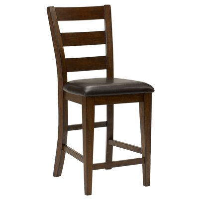 furniture davenport ladder back counter height dining chair in tobacco