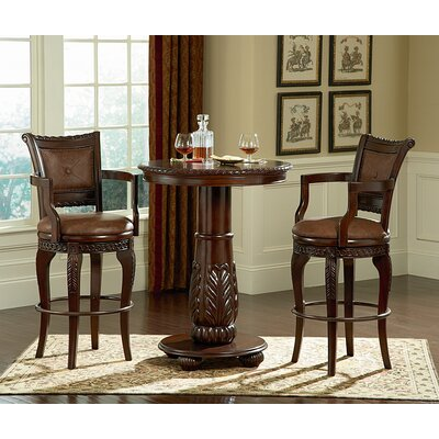 Antoinette Pedestal Pub Table in Multi-Step Rich Cherry