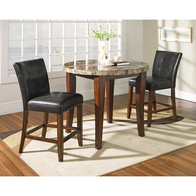 Montibello 3 Piece Pub Table Set in Multi-Step Rich Cherry