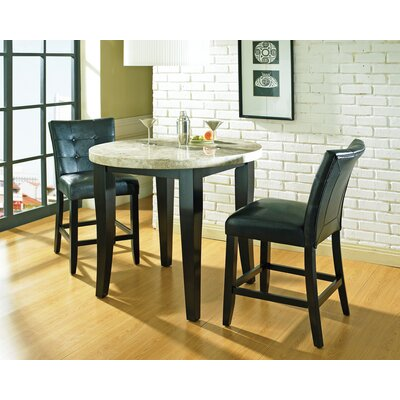 Monarch 3 Piece Pub Table Set in Multi-Step Black