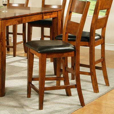 Steve Silver Furniture Mango Counter Height Dining Chair in Light Oak