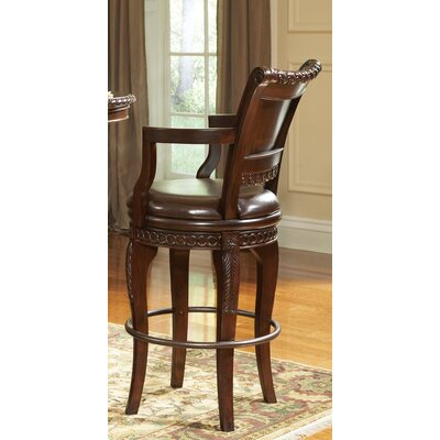 Steve Silver Furniture Antoinette Bar Height Chair in Multi-Step Rich Cherry