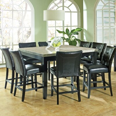 Steve Silver Furniture Monarch 9 Piece Counter Height Dining Set