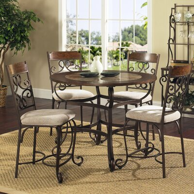 Steve Silver Furniture Callistro 5 Piece Counter Height Dining Set