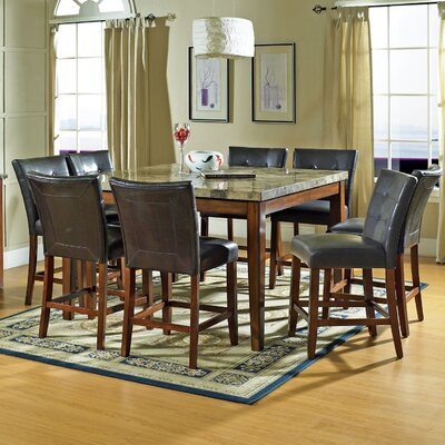 Steve Silver Furniture Montibello 9 Piece Counter Height Dining Set