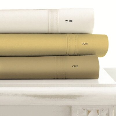 Tribeca Living 4-Piece Egyptian Cotton 500 Thread Count Sheet Set in Ivory