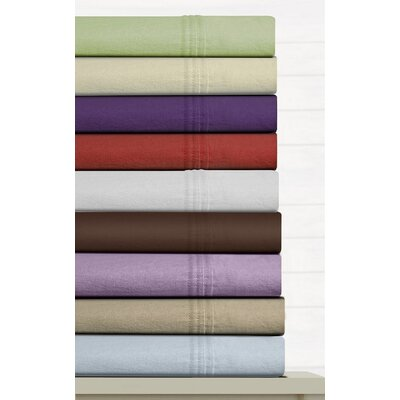 Tribeca Living Luxury Solid Cotton Deep Pocket Flannel Sheet Set