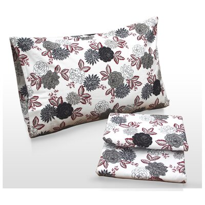 Tribeca Living Dahlia Floral Printed Sheet Set