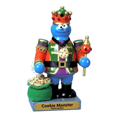 Sesame Street Wooden Cookie Monster Nutcracker