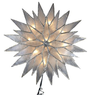 Capiz Sunburst Lighted Tree Topper