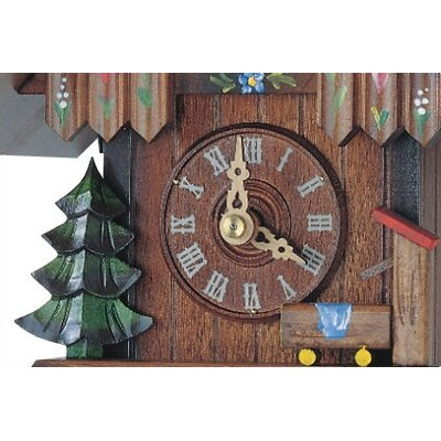 Schneider Small Painted Flower Cuckoo Clock
