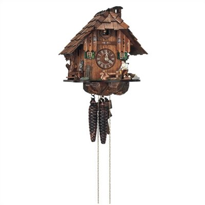 "Schneider 10"" Cuckoo Clock with Owl and Squirrel"