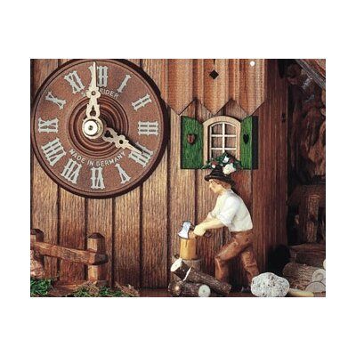"Schneider 12"" 8-Day Movement Cuckoo Clock with Owl and Squirrel"