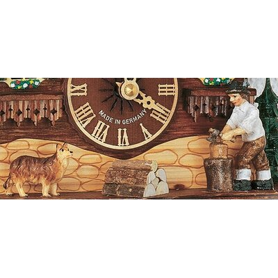 "Schneider 10"" Musical Chalet Cuckoo Clock with Woodchopper"