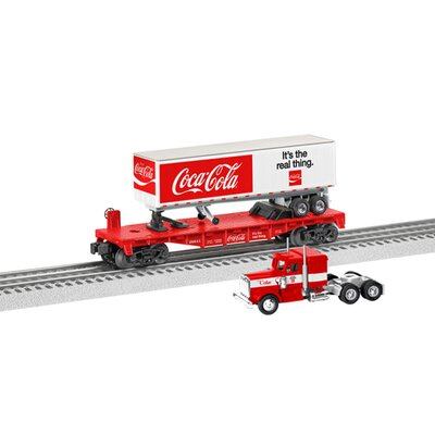 Lionel Coca-Cola Flat Car with Tractor Trailer
