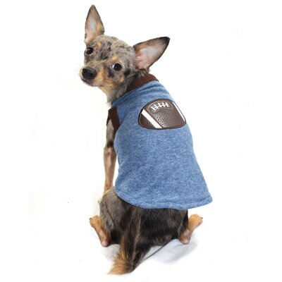 Hip Doggie Football Dog Sweater Vest in Blue
