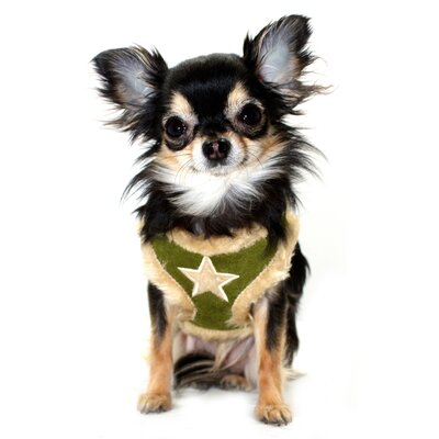 Fur Star Dog Harness Vest in Olive