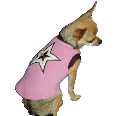 Star Dog Sweater Vest in Pink
