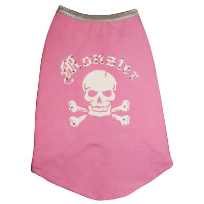Hip Doggie Monster Dog Tank in Pink and White