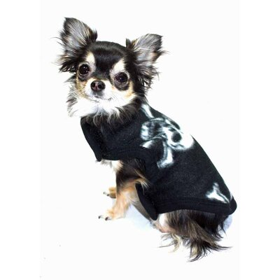 Skull Fleece Dog Vest