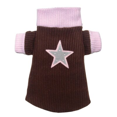 Hip Doggie Star Dog Turtleneck in Brown