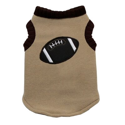 Hip Doggie Football Dog Sweater Vest in Tan