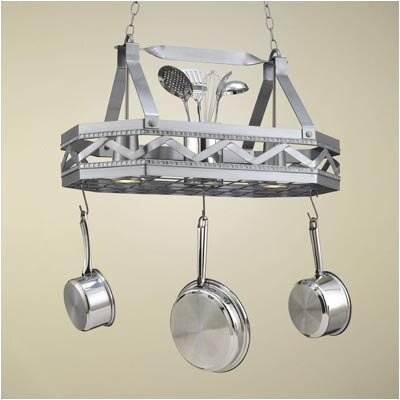 Sonoma 8 Sided Hanging Pot Rack with 2 Lights