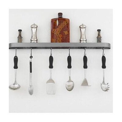 "Hi-Lite Sterling 34"" Wall Mounted Pot Rack"