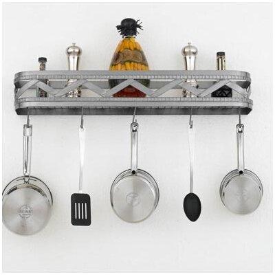 sonoma wall mounted pot rack wayfair. Black Bedroom Furniture Sets. Home Design Ideas