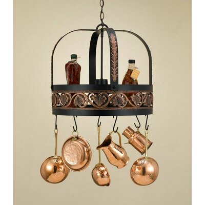 Hi-Lite Leaf Hanging Pot Rack with Light