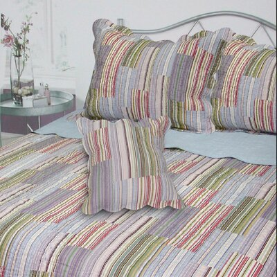 J&J Bedding Dayton Stripe Quilt Collection