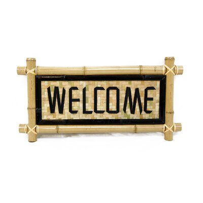 Backyard X-Scapes Bamboo - Welcome Garden Sign