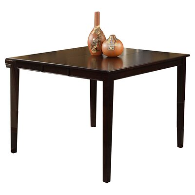 Alpine Furniture Jackson Pub Table with Butterfly Leaf in Dark Cherry