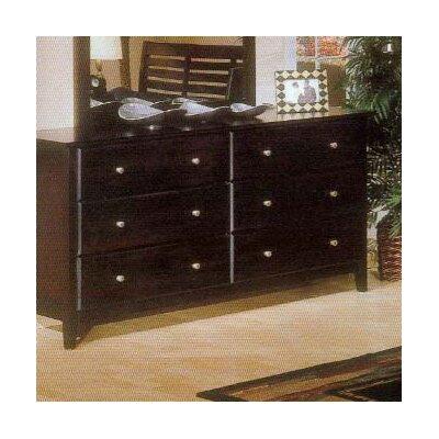 Alpine Furniture Portola 6 Drawer Dresser