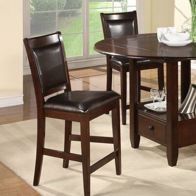 Alpine Furniture Morgan Counter Height Chair With Faux Leather Cushion