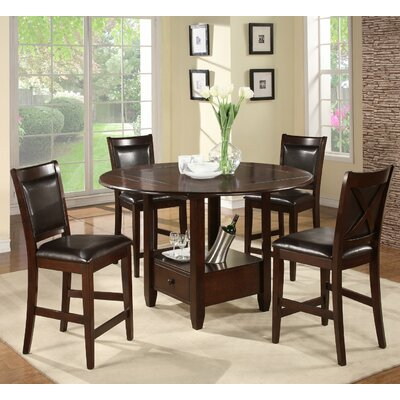 Alpine Furniture Morgan 5 Piece Counter Height Dining Set
