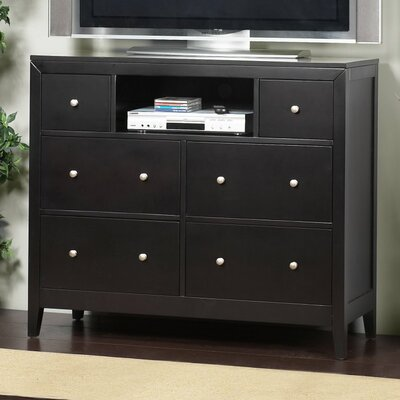 Alpine Furniture Vista 6 Drawer Media Chest