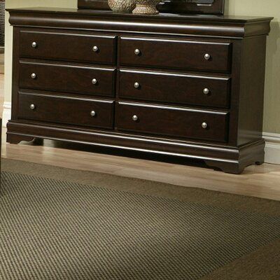 Alpine Furniture Chesapeake 6 Drawer Dresser